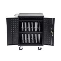 Pearington 30 Bay Mobile Charging and Storage Cart for iPads, Chromebooks and Laptop Computers, Up to 13-inch Screen Size, Surge Protection, Front & Back Access Locking Cabinet
