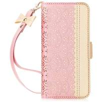 WWW Galaxy Note 10+ Plus Case/Galaxy Note 10+ Plus 5G Case, [Luxurious Romantic Carved Flower] Leather Wallet Case with [Makeup Mirror] [Kickstand] Galaxy Note 10+ Plus Wallet Case 2019 Rose Gold