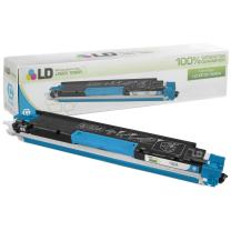 LD Remanufactured Toner Cartridge Replacement for HP 130A CF351A (Cyan)