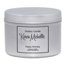 Happy Birthday Coconut Vanilla Body Oil/Massage Jewelry Candle