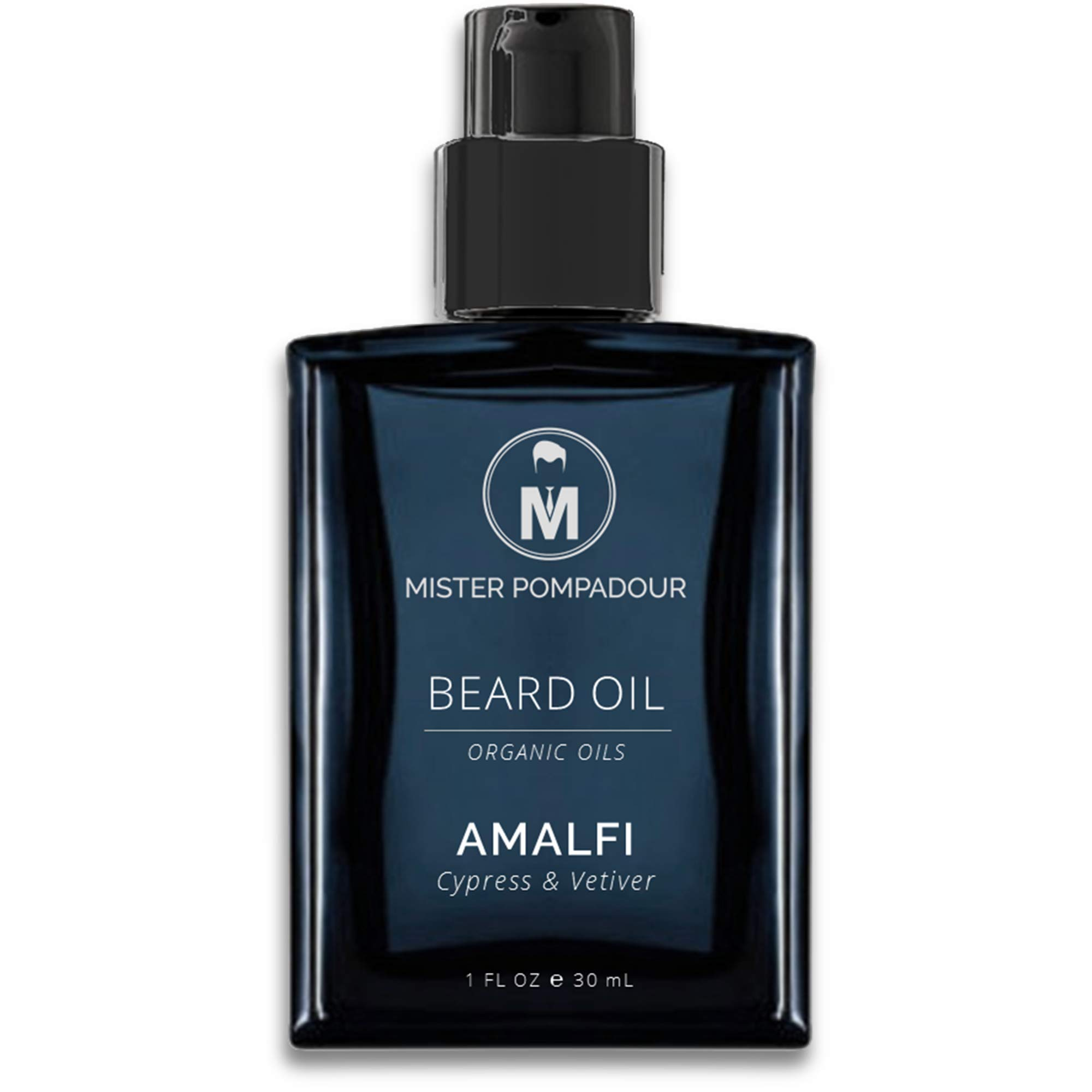 Mister Pompadour - AMALFI Beard Oil - with Natural Certified Organic Oils to Soften and Condition Beards & Mustaches