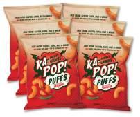 Ka-Pop! Ancient Grain Puffs, Red & Green Sriracha (4oz, Pack of 6) - Allergen Friendly, Sorghum, Gluten-Free, Paleo Friendly, Non-GMO, Vegan, Whole Grain Snacks, As Seen on Shark Tank