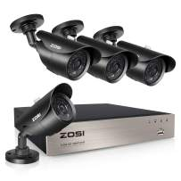 ZOSI 1080P Security Camera System,8CH Full 1080P HD Video DVR Recorder with 4X HD 1920TVL 1080P Indoor Outdoor Weatherproof CCTV Cameras with 120ft Long Night Vision,NO Hard Drive
