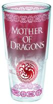 Tervis 1265657 HBO Game of Thrones - Mother of Dragons Insulated Travel Tumbler with Wrap, 16 oz - Tritan, Clear