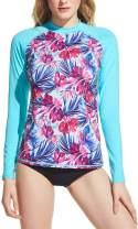 TSLA Women's UPF 50+ Rash Guard Long Sleeve, UV/Sun Protection Swim Shirts, Water Beach Surf Swim Top