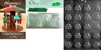 "Cybrtrayd ""Bite Size Shamrocks"" Patriotic Chocolate Candy Mold with Chocolatier's Bundle, Includes 50 Cello Bags, 50 Green Twist Ties and Chocolatier's Guide"