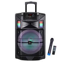 AUDSTER AUD-B1200K Professional Portable Rechargeable 1700 Watt Speaker, Super Party Sound (Black)