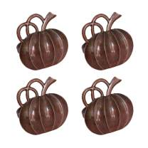 wonlex Fall Napkin Rings Set of 4, Pumpkin Napkin Ring for Thanksgiving, Table Setting, Halloween Decorations, Table Decor (Vintage Pumpkin)