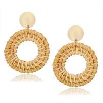 Showfay Fashion Women's Tortoise Mottled Hoop Earrings Bohemia Acrylic Resin Statement Earrings
