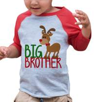 7 ate 9 Apparel Youth Big Brother Christmas Shirt Red