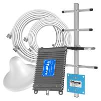 ATT Cell Signal Booster Band 12/17 700Mhz 4G LTE Cell Phone Booster ATT Home Cell Phone Booster Repeater TONVE ATT Signal Booster Mobile Signal Booster Amplifier with Ceriling+Yagi Antenna Kit