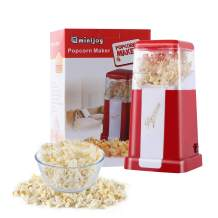 1200W Red Hot Air Popcorn Poppers Machine,Electric Popcorn Maker with Measuring Cup,No Oil Needed,BPA-Free,95% Poping Rate,Fast Popping in Two Minutes