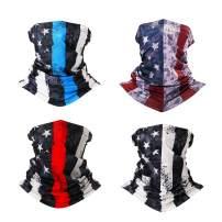 American Flag Face Mask, Men's Neck Gaiter Outdoors Face Bandanas Scarf Headbands for Men & Women Seamless Face Cover