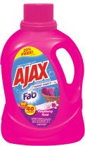 Scent Party Liquid Laundry Detergent with Fab by Ajax | Concentrated Scent-Boosted Formula | Works in All Standard & HE Washing Machines | Hot & Cold Water | Raspberry Rose Scent | 60 Oz.