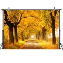 Dudaacvt 7x5FT Autumn Golden Maple Deciduous Photography Background Fall Photo Backdrop Wedding Backdrop Newborn Photography Backdrops D183