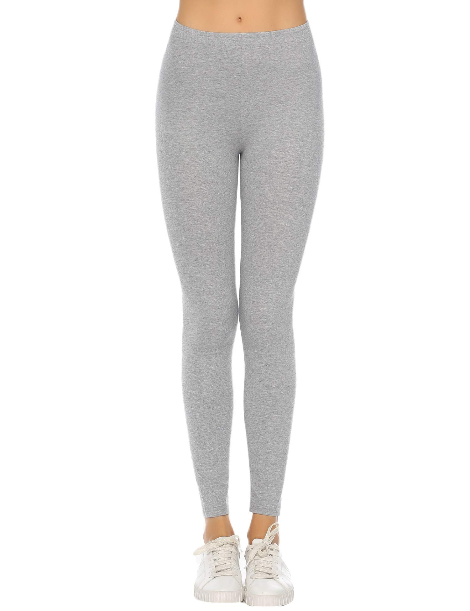 Hawiton High Waisted Leggings Solid Yoga Workout Running Full Length Pants Soft & Slim