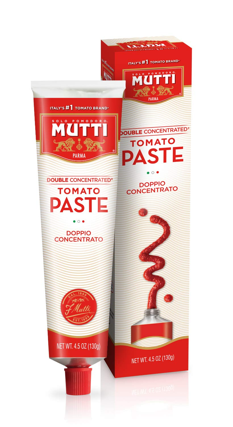 Mutti — 4.5 oz. 12 Pack of Double Concentrated Tomato Paste - Tube (Doppio Concentrato) from Italy's #1 Tomato Brand. Adds rich flavor to recipes calling for Tomato Paste.