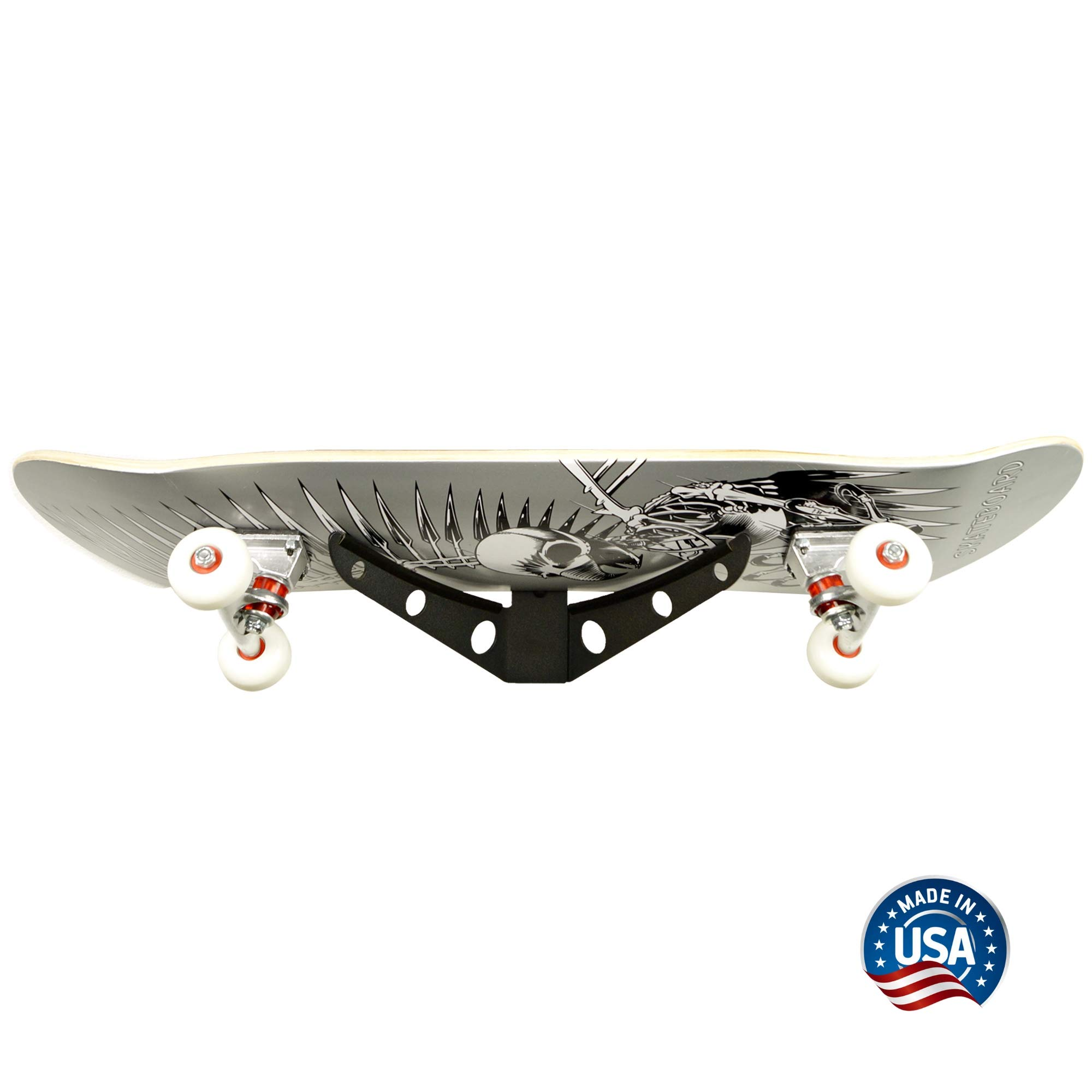 Koova Skateboard Rack Wall Mount, Board Storage and Display Holder, Easy to Install Powder Coated Steel Frame, Vertical Space Saving Design, Accessory Organizer - Made in USA…