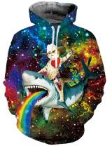 ALISISTER Unisex 3D Hoodie Pullover Sweatshirt Fleece Hooded with Pocket Clothes