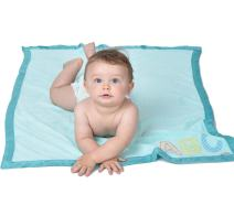 """Eric Carle The Very Hungry Caterpillar Baby Plush Printed Blanket, Light Blue, 30"""" x 40"""