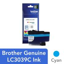 Brother Genuine LC3039C, Single Pack Ultra High-Yield Cyan INKvestment Tank Ink Cartridge, Page Yield Up to 5,000 Pages, LC3039, Amazon Dash Replenishment Cartridge