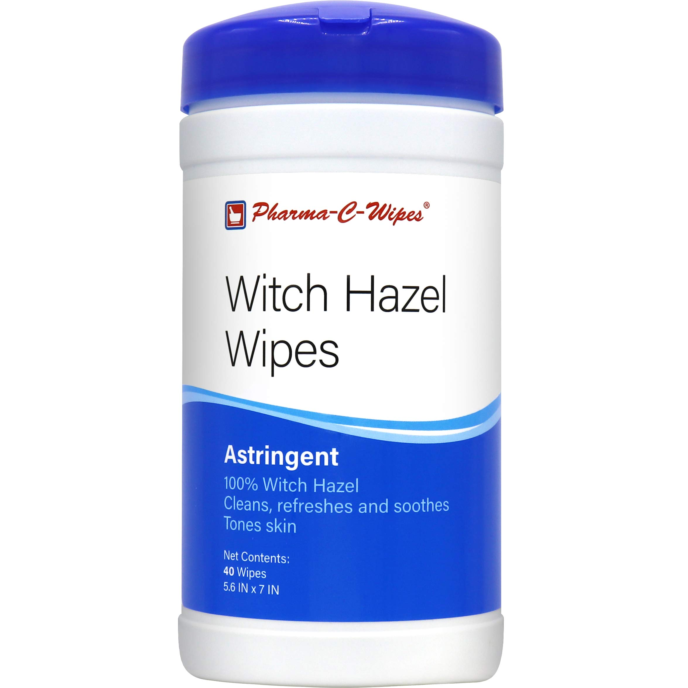 100% Witch Hazel wipes (1 case of 6 canisters) Toner & Astringent Cleansing Cloths