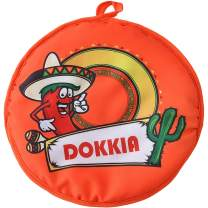 DOKKIA Tortilla Warmer 12 Inch Insulated Cloth Pouch - Microwavable Use Fabric Bag to Keep Food Warm for up to One Hour (12 Inch, Chili Pepper Cactus)