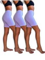 Sexy Basics Slip Shorts   3-Pack Bike Shorts   Semi-Sheer Cotton Spandex Stretch Boyshorts for Yoga/Workouts