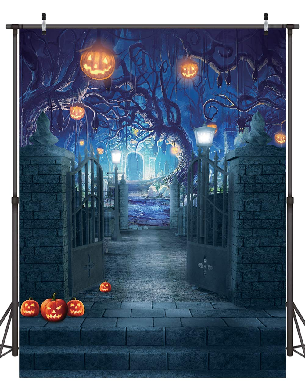Dudaacvt 6x8ft Halloween Photography Backdrops Halloween Decorations Backdrop for Photography Horrible Party Background Photo Studio Booth Props D210