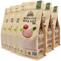 Himalayan Chef Pink Himalayan Salt Fine Grain-3 Pounds, Pack of 6