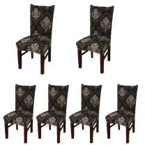 Deisy Dee Stretch Chair Cover Removable Washable for Hotel Dining Room Ceremony Chair Slipcovers Pack of 6