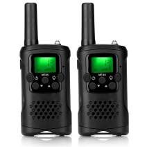 ieGeek Walkie Talkies for Kids, Toys for 3-12 Year Old Boys with 22 Channel 2 Way Radio Handheld Battery Powered,Kids Walkie Talkies for Outside,Camping,Hiking (2 Pack)