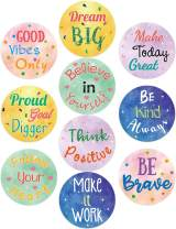 Watercolor Positive Sayings Cutouts 20PCS 7 Inches Classroom Bulletin Board Decoration for School Kids Home Decor