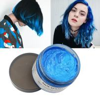 MOFAJANG Blue Hair Wax Pomades 4.23 oz - Natural Hair Coloring Wax Material Disposable Hair Styling Clays Ash for Cosplay, Party (Blue)