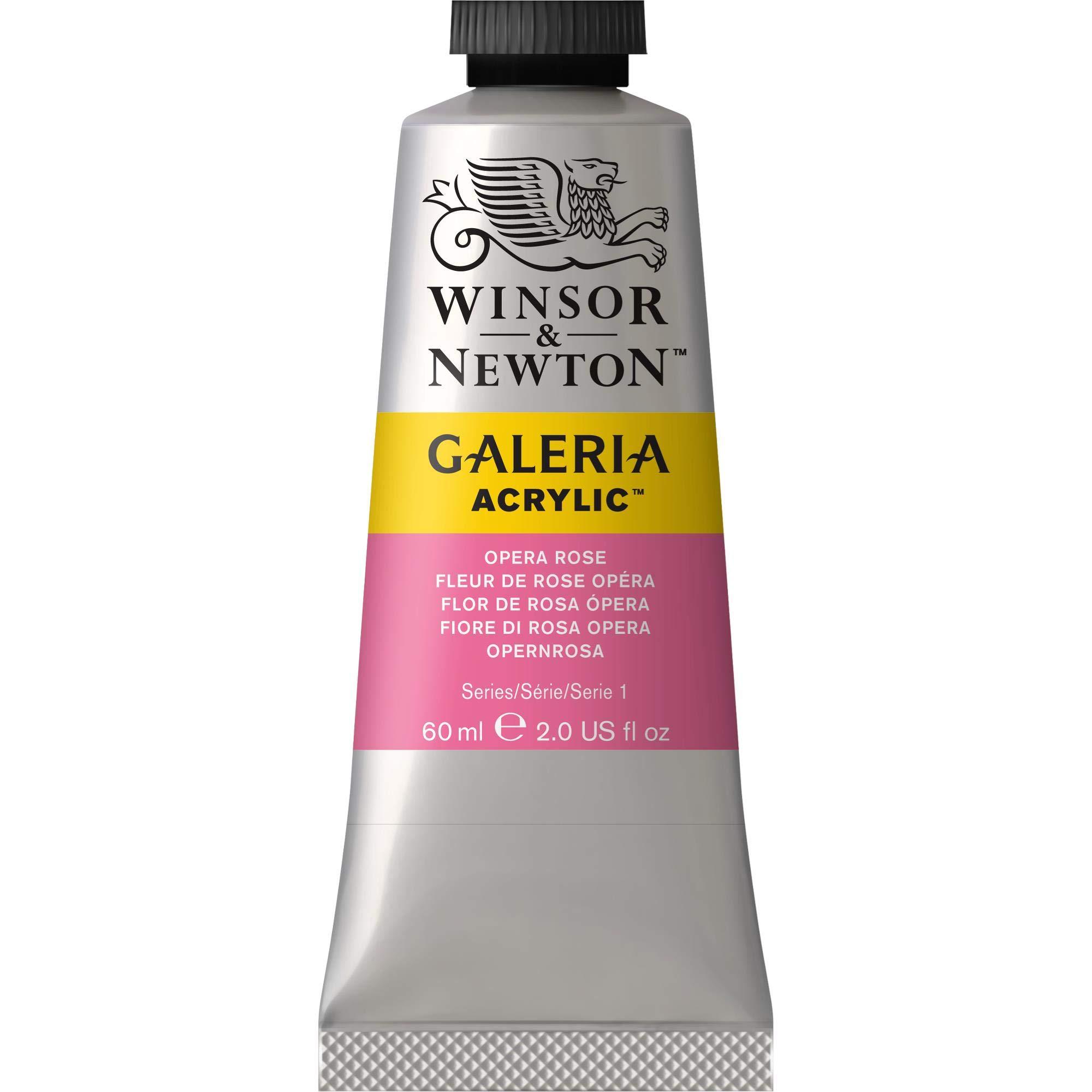 Winsor & Newton, Opera Rose Galeria Acrylic Paint, 60ml Tube, 60-ml, 2 Fl Oz