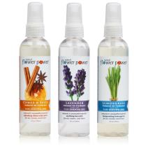 Natural Flower Power - Natural Air Fresheners Variety Pack (Citrus & Spice, Lavender and Lemongrass), 4 Ounce (3 Pack)