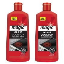 Magic Ceramic and Glass Cooktop Cleaner - 16 Ounce - 2 Pack - Professional Home Kitchen Cooktop Cleaner and Polish Use on Induction Ceramic Gas Portable Electric