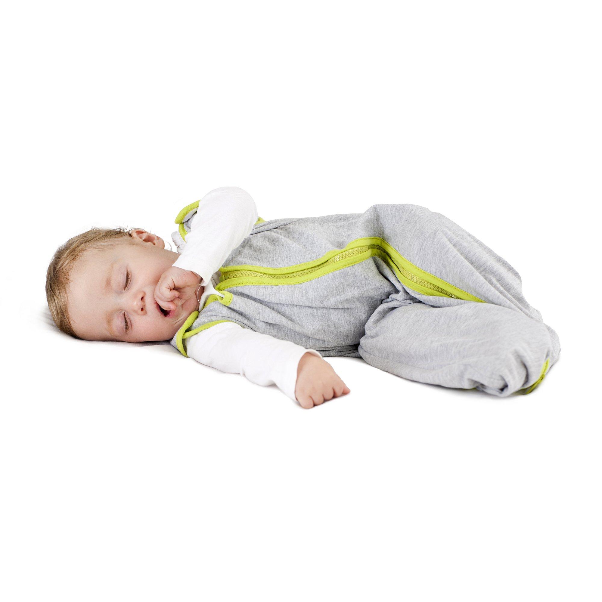 baby deedee Sleep Nest Lite Sleeping Bag Sack, Heather Gray Lime, Small (0-6 Months)