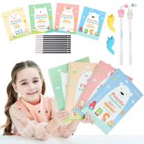 Magic Practice Copybook for Kids - The Print Handwiriting Workbook-Reusable Writing Practice Book for Preschools(4 books with pens)
