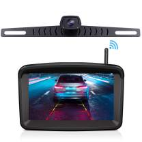 "Wireless Backup Camera with 5"" HD Monitor Stable Digital Signal for Trucks/traliers/RVs/Pickup/Camper/RVs/Van with Monitor Xroose Backup Camera F3 License Plate IP69K Waterproof 152°Night Vision"