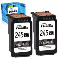 HavaTek Remanufactured 245XL Ink Cartridge Replacement for Canon 245 PG-245 XL PG-243XL Used for Canon Pixma MX490 MX492 TS3122 MG2922 MG2520 TR4522 MG2500 TS3100 MG2525 MG2920 Printer (2 Black)