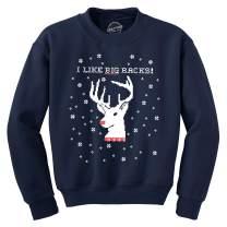 Crazy Dog T-Shirts I Like Big Racks Funny Unisex Hunting Ugly Christmas Crew Neck Sweatshirt