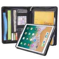 "iCarryAlls150318PJJ-IP105-BK iPad Portfolio Folio Case, Organizer Portfolio Case with Removable Tablet Holder for 10.5 inch iPad Pro/iPad Air 3,Black, 10.5"" iPad Pro/ 10.5"" iPad Air 3"