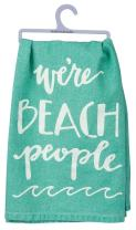 """Primitives by Kathy Hand-Lettered Dish Towel, 28"""", We're Beach People"""