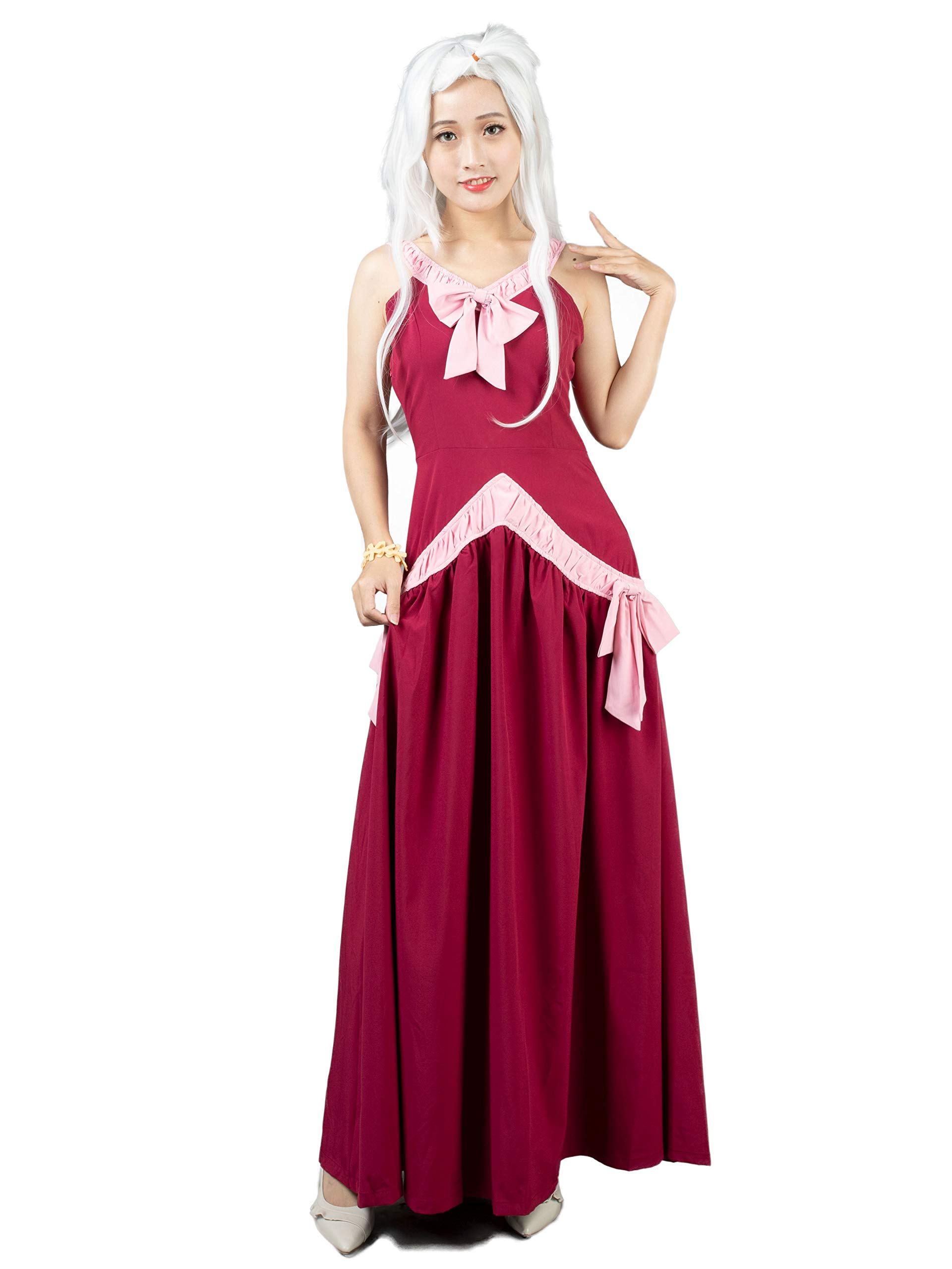 Cosfun Mirajane Strauss Cosplay Costume Red Dress Mp003146 Mirajane is a skilled user in take over magic and share her power with her siblings when they were little, making them the take over siblings. yoybuy