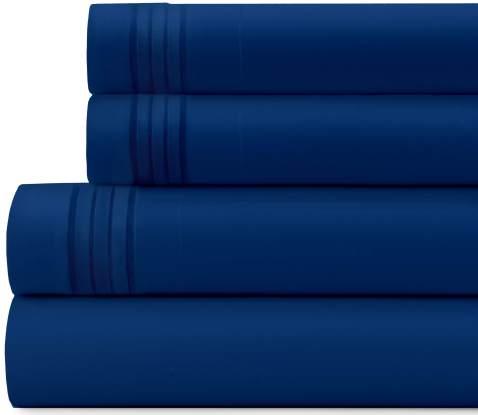 Briarwood Home Bed Sheet Set – Brushed Microfiber 1900 Premium Quality Soft Fabric Breathable Bedding – Deep Pocket – Wrinkle, Fade & Shrinkage Resistant 4 Piece Sheets (Cal King/Royal Blue)