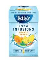 Tetley Herbal Infusions, Mango & Turmeric, Brew in Cold Water, 16 Tea Bags (Pack Of 3)
