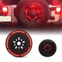 Tire Brake Light, AAIWA Spare Tire 3rd Third Brake Light Rear Wheel Light LED Ring Compatible with Jeep Wrangler 2007-2017 JK TJ LJ YJ CJ