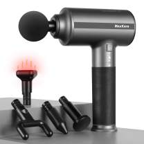 Heated Massage Percussion Gun for Athletes, Deep Tissue Muscle Massager for Pain Relief Athletic Recovery, Handheld Electric Massager Portable with 3 Mode & 5 Speed Levels, Ideal for Relaxation & Gift