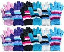 Yacht & Smith Kids Warm Winter Colorful Magic Stretch Gloves And Mittens For 2-5 Age Kids